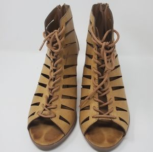Call it Spring Lace-up block Heels - Strap cutouts